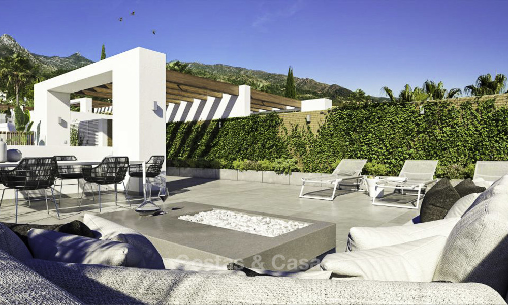 Luxurious contemporary designer villas with breath taking sea views for sale - Sierra Blanca, Golden Mile, Marbella 11513