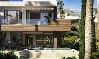 Luxurious contemporary designer villas with breath taking sea views for sale - Sierra Blanca, Golden Mile, Marbella 11516