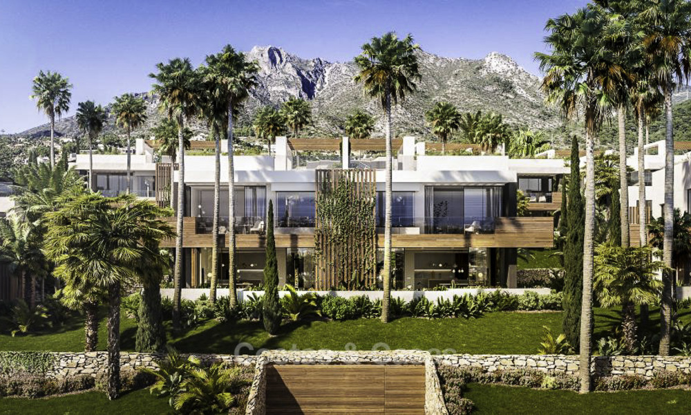 Luxurious contemporary designer villas with breath taking sea views for sale - Sierra Blanca, Golden Mile, Marbella 11519