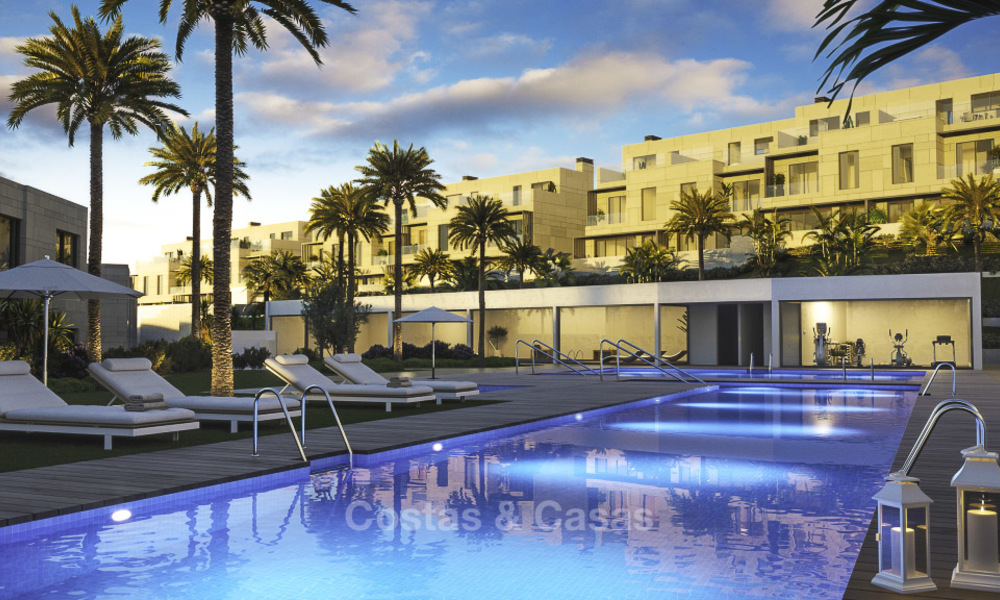 Spacious new modern townhouses with sea views for sale, New Golden Mile between Marbella and Estepona 11589