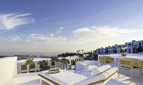 Spacious new modern townhouses with sea views for sale, New Golden Mile between Marbella and Estepona 11594
