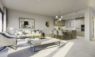 Spacious new modern townhouses with sea views for sale, New Golden Mile between Marbella and Estepona 11595