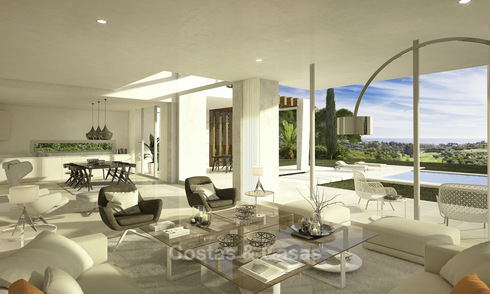 Exclusive contemporary golf villas with stunning golf and sea views for sale - East Marbella 11963