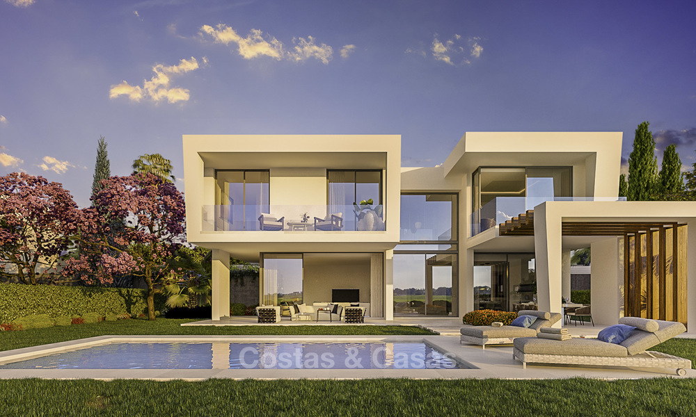Exclusive contemporary golf villas with stunning golf and sea views for sale - East Marbella 15954