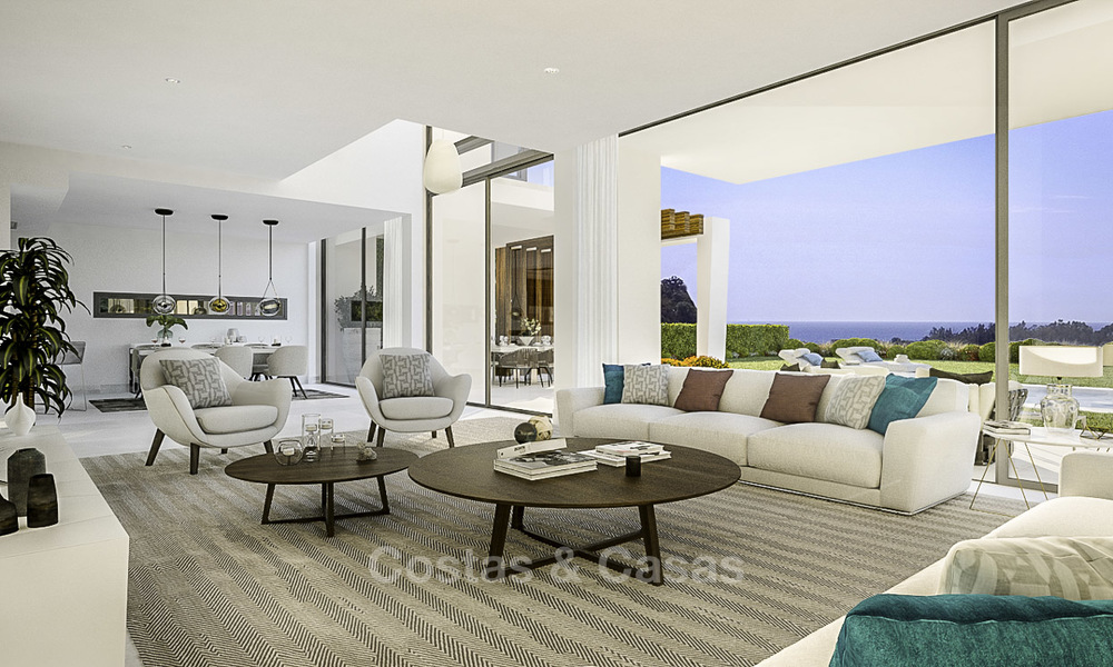 Exclusive contemporary golf villas with stunning golf and sea views for sale - East Marbella 15956