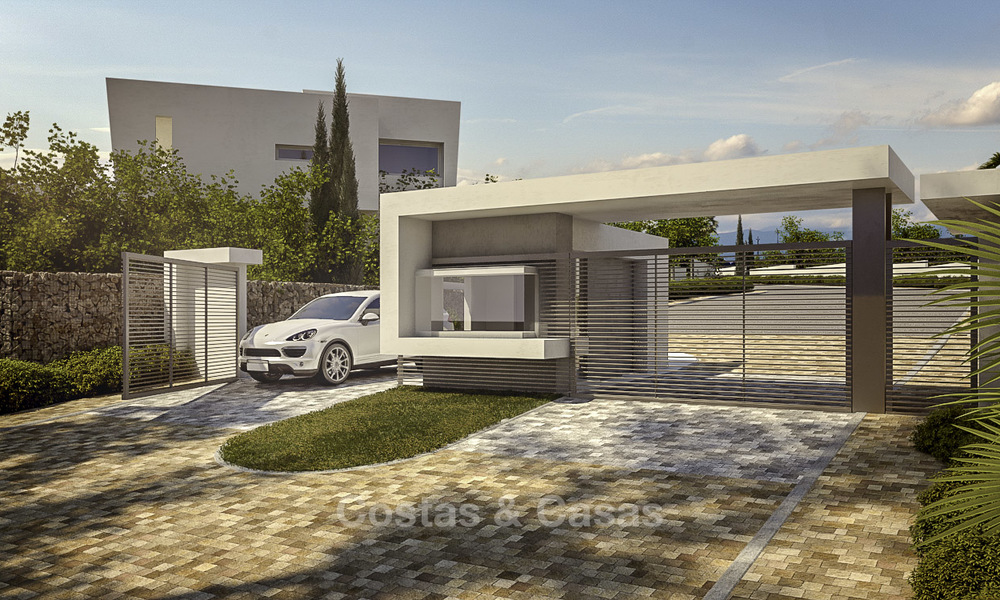 Exclusive contemporary golf villas with stunning golf and sea views for sale - East Marbella 15957