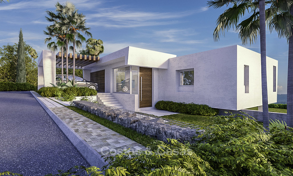 Exclusive contemporary golf villas with stunning golf and sea views for sale - East Marbella 15959