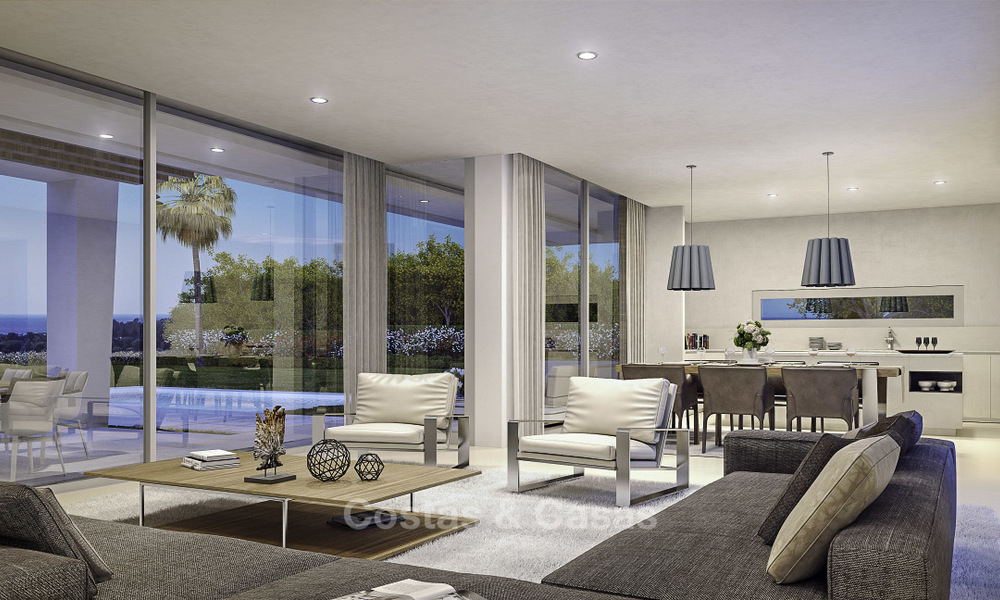 Exclusive contemporary golf villas with stunning golf and sea views for sale - East Marbella 15962