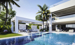 High standing luxury villa in modern contemporary style for sale, frontline golf, Benahavis - Marbella 11726