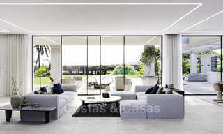 High standing luxury villa in modern contemporary style for sale, frontline golf, Benahavis - Marbella 11728