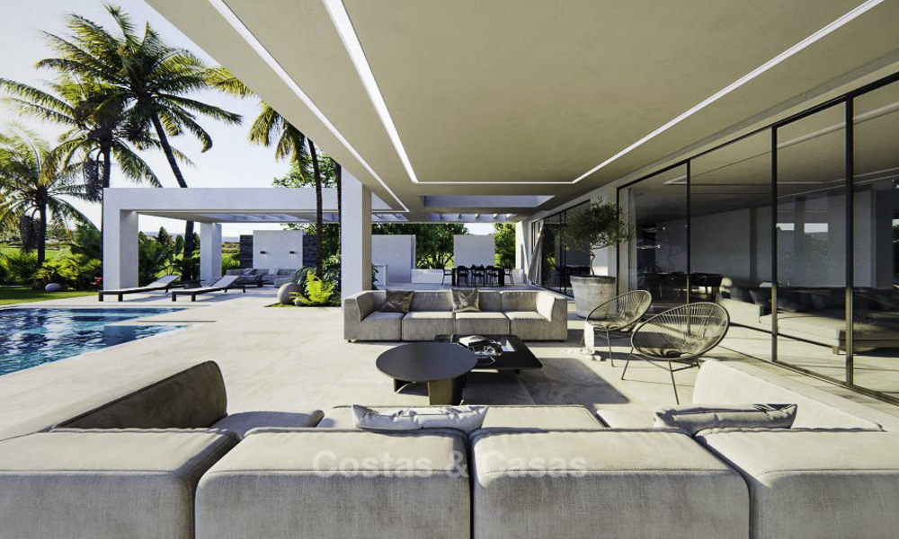 High standing luxury villa in modern contemporary style for sale, frontline golf, Benahavis - Marbella 11729