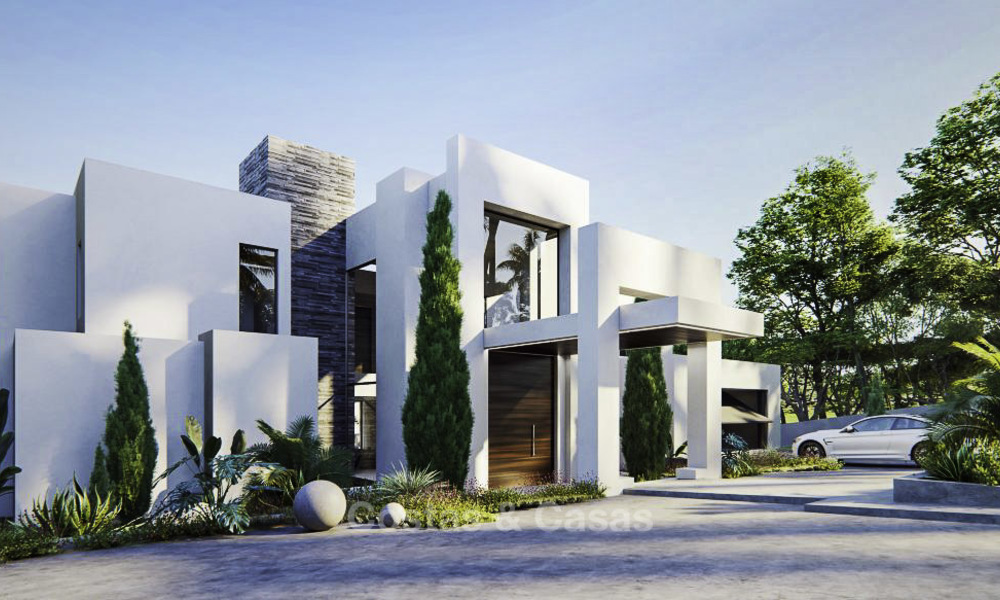 High standing luxury villa in modern contemporary style for sale, frontline golf, Benahavis - Marbella 11730