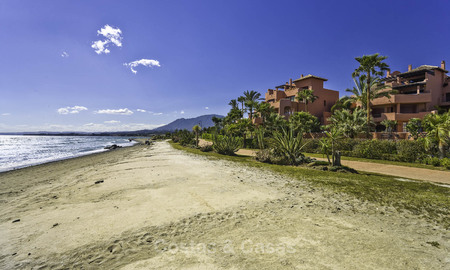 Attractive, spacious apartment in an exclusive beachfront complex for sale, between Marbella and Estepona 11756