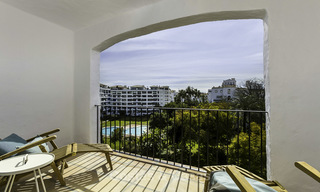 Fully renovated beachside luxury apartments for sale, ready to move into, in the centre of Puerto Banus, Marbella 11890