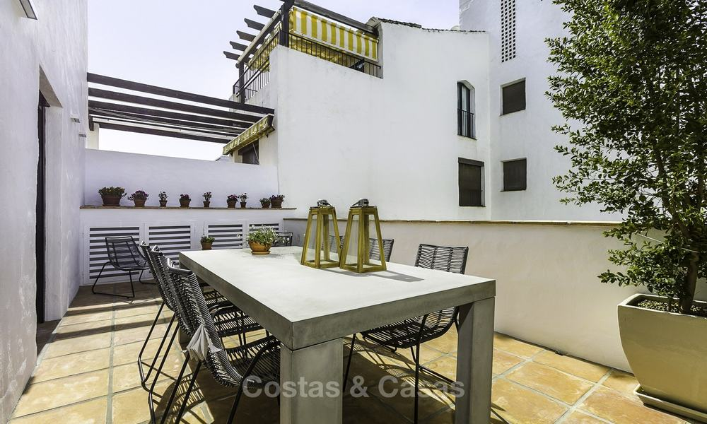Fully renovated beachside luxury apartments for sale, ready to move into, in the centre of Puerto Banus, Marbella 11900