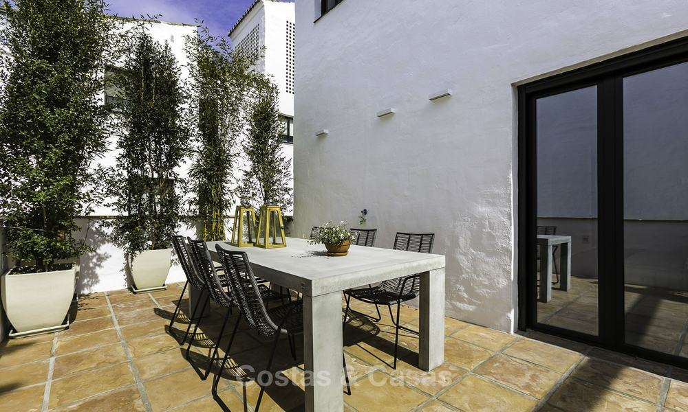 Fully renovated beachside luxury apartments for sale, ready to move into, in the centre of Puerto Banus, Marbella 11901