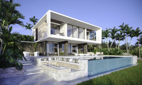Lovely brand new modern golf villas for sale with great sea and golf views, Estepona, Costa del Sol 12025