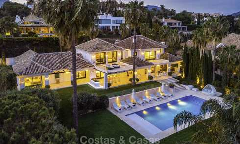Outstanding modern luxury villa with amazing golf and sea views for sale in the heart of Nueva Andalucía, Marbella 12097
