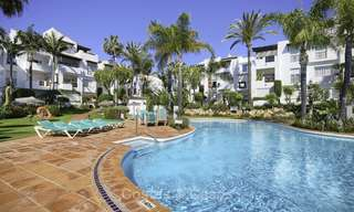 Modern, fully renovated apartment in a beachside complex for sale, New Golden Mile, between Marbella and Estepona 12239