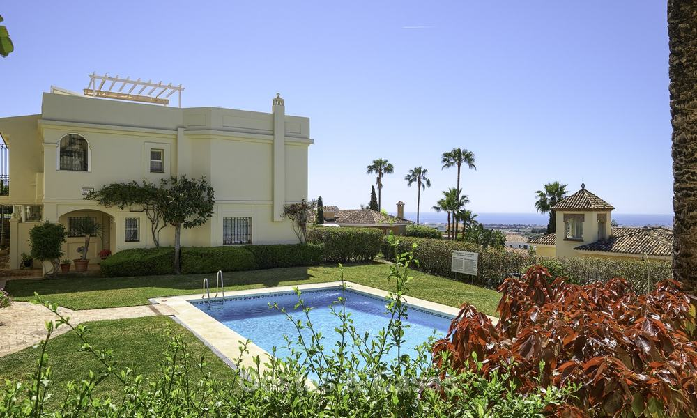 Charming, fully refurbished townhouse with sea and mountain views for sale, in a prestigious golf resort, Benahavis, Marbella 12206