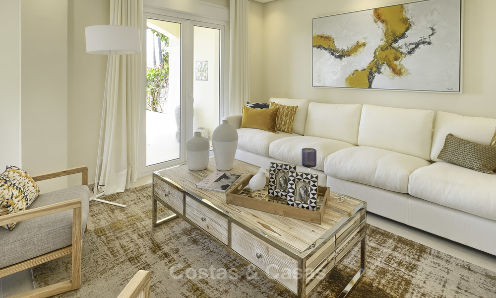 Charming, fully refurbished townhouse with sea and mountain views for sale, in a prestigious golf resort, Benahavis, Marbella 15347