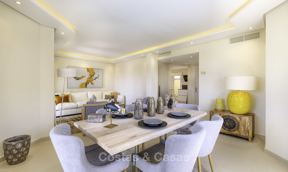 Charming, fully refurbished townhouse with sea and mountain views for sale, in a prestigious golf resort, Benahavis, Marbella 15349