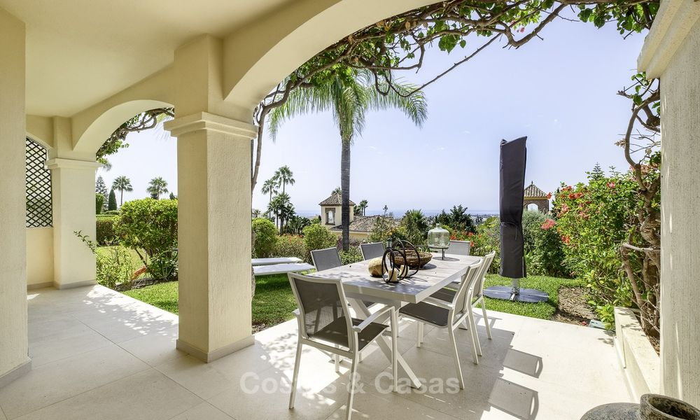 Charming, fully refurbished townhouse with sea and mountain views for sale, in a prestigious golf resort, Benahavis, Marbella 15351