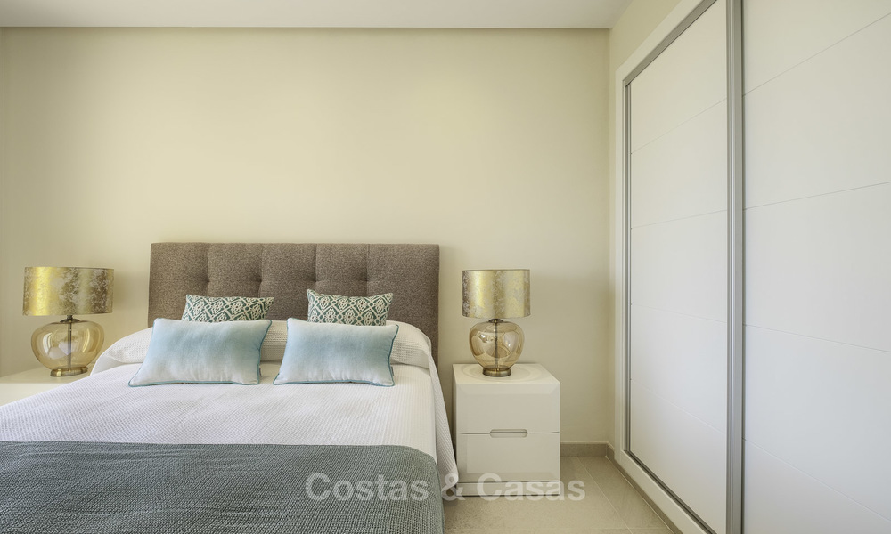 Charming, fully refurbished townhouse with sea and mountain views for sale, in a prestigious golf resort, Benahavis, Marbella 15356