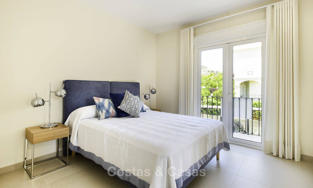 Charming, fully refurbished townhouse with sea and mountain views for sale, in a prestigious golf resort, Benahavis, Marbella 15363