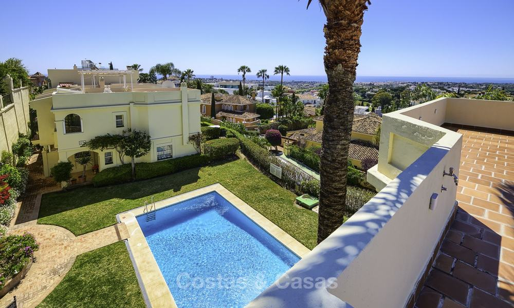 Charming, fully refurbished townhouse with sea and mountain views for sale, in a prestigious golf resort, Benahavis, Marbella 12216