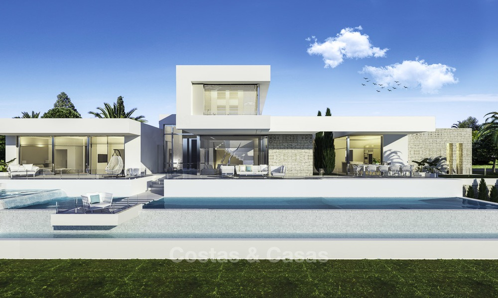 Stylish modern luxury villa in a highly valued golf resort for sale, Mijas, Costa del Sol 12353
