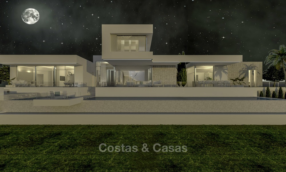 Stylish modern luxury villa in a highly valued golf resort for sale, Mijas, Costa del Sol 12355