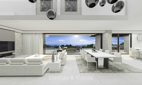 Dazzling contemporary luxury villa with panoramic sea views for sale, Mijas, Costa del Sol 12391