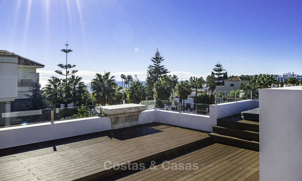 Exquisite, high-end modern luxury villa for sale, ready to move in, beachside Golden Mile, Marbella 12420