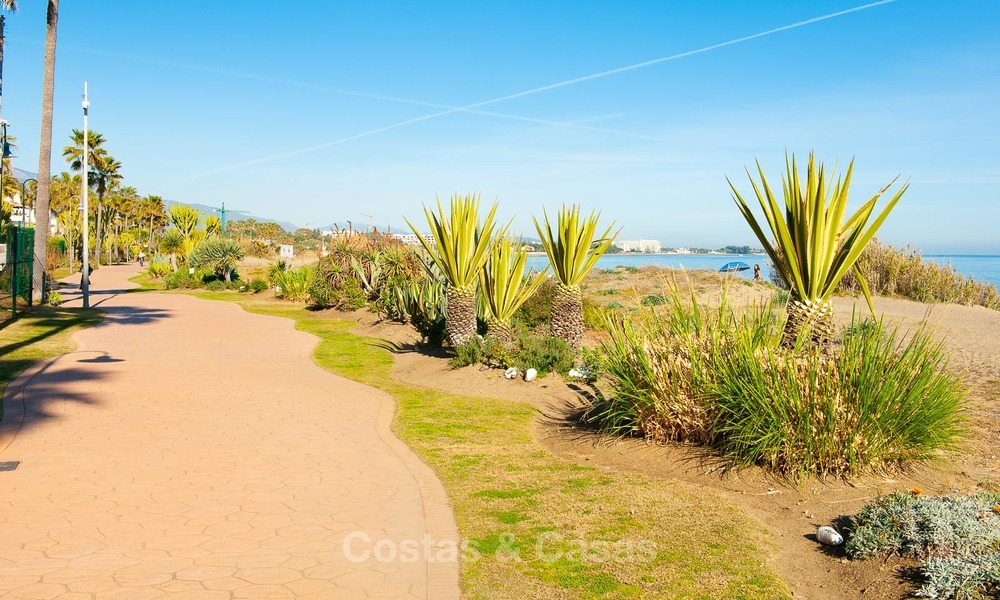 Fully redesigned and renovated beachside apartment for sale, between Estepona and Marbella 12514