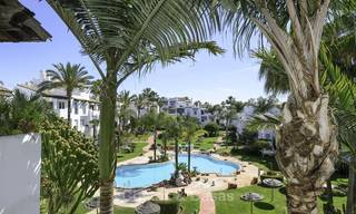 Completely renovated 3 bedroom penthouse apartment for sale in a beachside complex, between Marbella and Estepona 12500