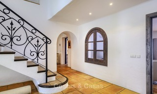 Charming traditional style villa with sea and mountain views for sale in El Madroñal, Benahavis, Marbella 12586