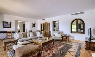 Charming traditional style villa with sea and mountain views for sale in El Madroñal, Benahavis, Marbella 12588