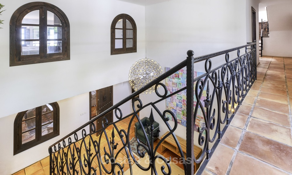 Charming traditional style villa with sea and mountain views for sale in El Madroñal, Benahavis, Marbella 12604