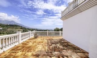 Charming traditional style villa with sea and mountain views for sale in El Madroñal, Benahavis, Marbella 12609