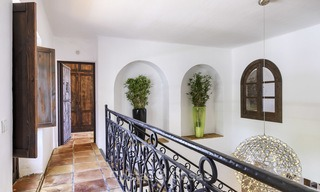 Charming traditional style villa with sea and mountain views for sale in El Madroñal, Benahavis, Marbella 12613