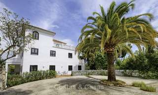 Charming traditional style villa with sea and mountain views for sale in El Madroñal, Benahavis, Marbella 12621