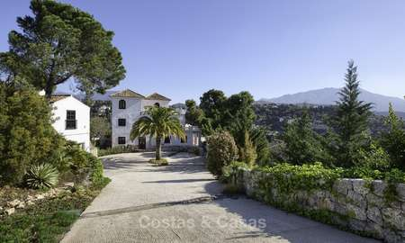 Charming traditional style villa with sea and mountain views for sale in El Madroñal, Benahavis, Marbella 12622