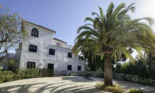 Charming traditional style villa with sea and mountain views for sale in El Madroñal, Benahavis, Marbella 12623