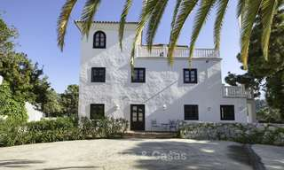 Charming traditional style villa with sea and mountain views for sale in El Madroñal, Benahavis, Marbella 12625