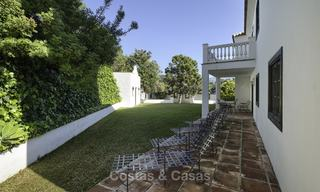 Charming traditional style villa with sea and mountain views for sale in El Madroñal, Benahavis, Marbella 12627