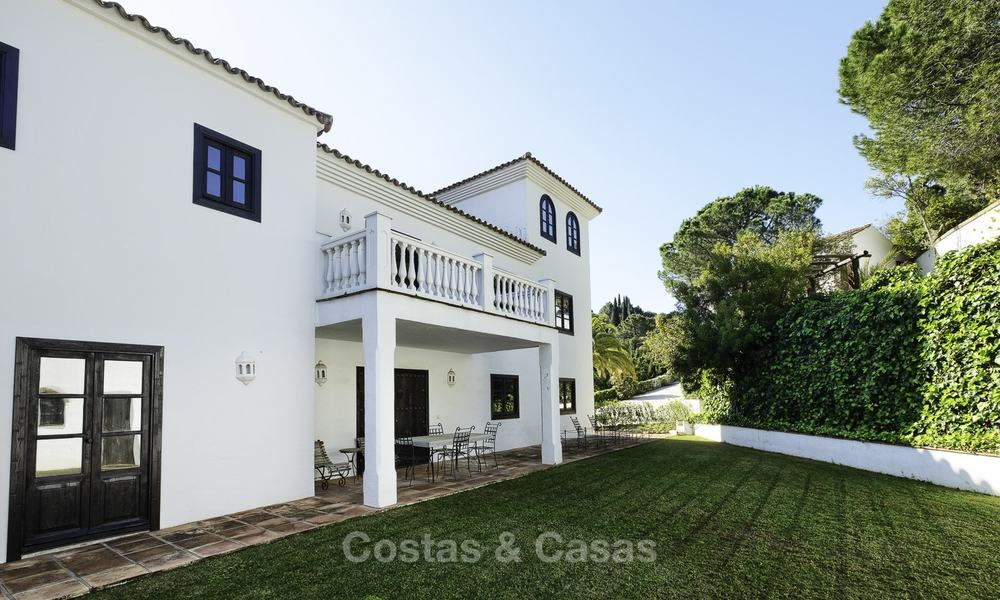 Charming traditional style villa with sea and mountain views for sale in El Madroñal, Benahavis, Marbella 12630