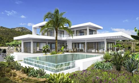 Brand new modern luxury villa with panoramic sea views for sale in Benahavis - Marbella 12525