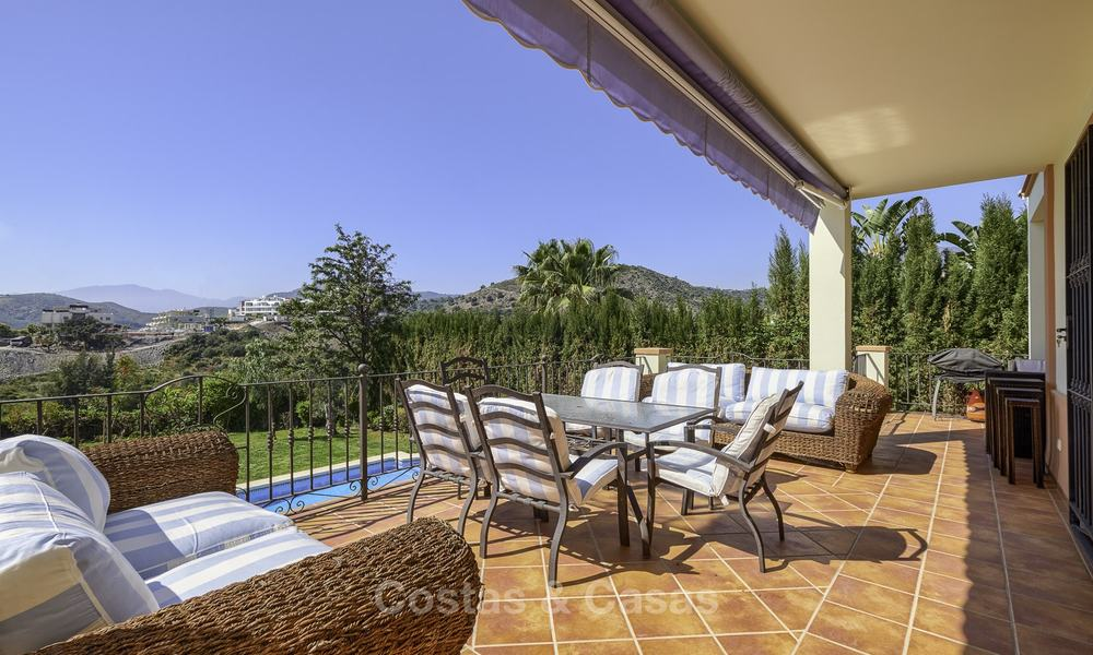 Rustic style villa with sea and mountain views for sale, Benahavis, Marbella 12643