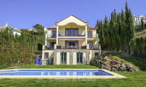 Rustic style villa with sea and mountain views for sale, Benahavis, Marbella 12647